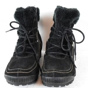 Baretraps Black Leather/Faux Fur Boots Size 11M